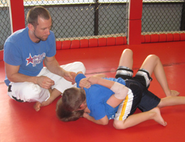 Kids Jiu Jitsu Grappling with Submission Grappling Champion Coach Dave Nielsen
