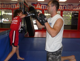 REPUBLIC Coach Dave Nielsen working Boxing with Kids Class